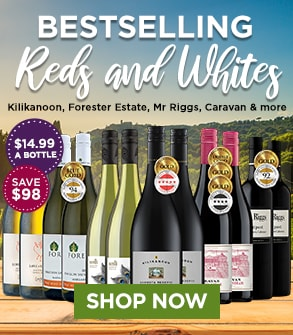 Bestselling Reds & Whites - only $14.99 a bottle - SHOP NOW