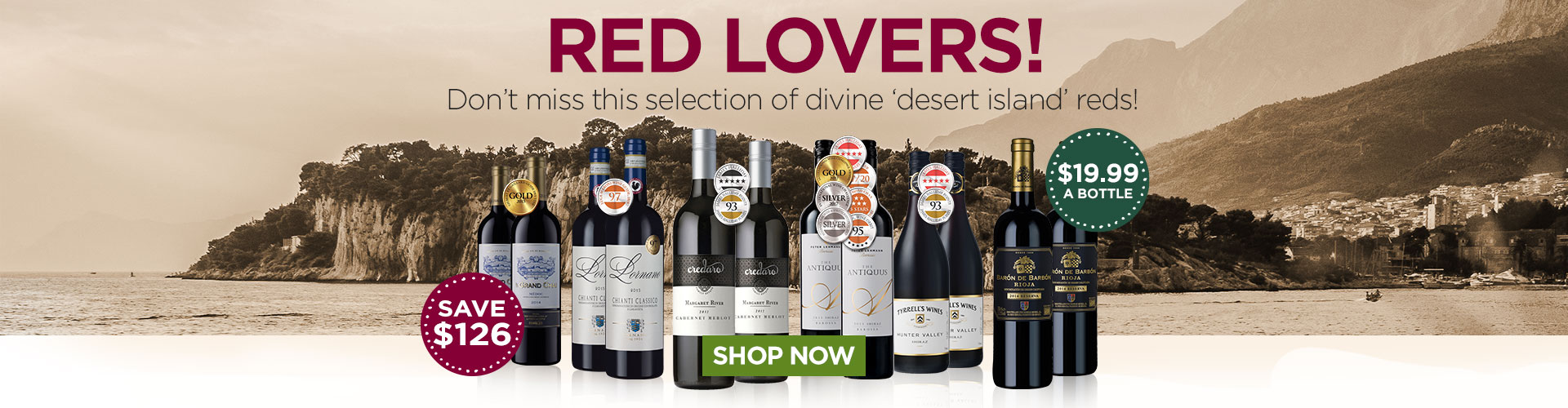 Red Lovers! Don't miss these divine 'desert island' reds!